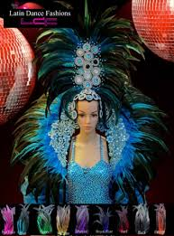 carnival tall sky feathered headdress with matching backpack mardi