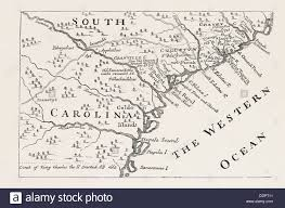 usa carolina map map of south carolina in 1730 by h moll united states of