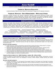 financial services resume template resume samples types of resume