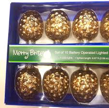 amazon merry brite 10 battery operated lighted glass