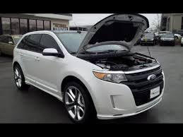 white ford edge sold 2013 ford edge sport fwd 6k ford certified white platinum