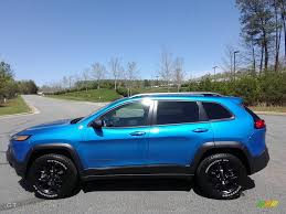 trailhawk jeep 2017 2017 hydro blue pearl jeep cherokee trailhawk 4x4 119771505