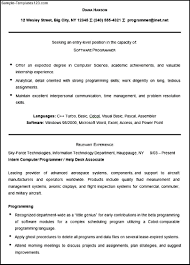 Resume Sample For Computer Programmer 100 Db Programmer Resume The 3 Most Lucrative Programming