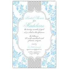 fancy invitations fancy light blue gray dot bridal shower invitations paperstyle