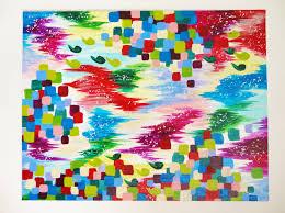 Ikat Home Decor by Christmas Season Original Abstract Acrylic Painting Free