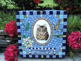mosaic pet memorial garden stones garden benchesgarden benches