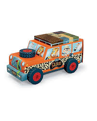 safari jeep drawing crocodile creek 3 in 1 puzzle and play safari 24 pieces unisex