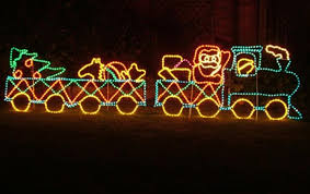 Outdoor Christmas Decorations Silhouettes by Santa With Train Silhouette Rope Light Outdoor Christmas