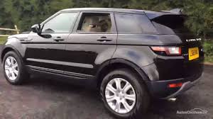 black land rover range rover land rover range rover evoque td4 se tech black 2015 youtube