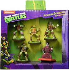 5 pc mutant turtles small aquarium