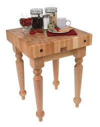 butcher block kitchen cart for chopping cutting boos saratoga farm maple butcher block on spindle legs 24x24 or 30x24