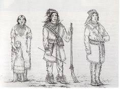 this is a drawing of what tribal clothes looked like native