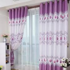 decorations lovable double layer white curtains and chic purple