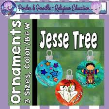 jesse tree advent christmas ornaments 3 sizes jesus mary