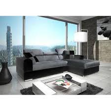 canapé d angle noir et gris canapé angle neto design gris noir achat vente canapé sofa