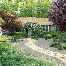 Backyard Pebble Gravel Cy White Landscape Design U2013 50 Landscaping Ideas Using Stone