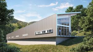exterior view design of maintenance operations building marin college cus