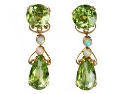 peridot earrings nouveau peridot opal earrings erie basin