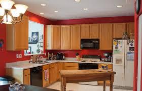 kitchen fancy kitchen wall color design with oak cabinet idea