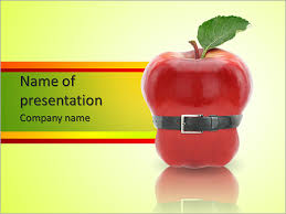 apple makes you slim powerpoint template u0026 backgrounds id