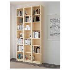 white bookcase billy bookcase birch veneer 120x237x28 cm ikea