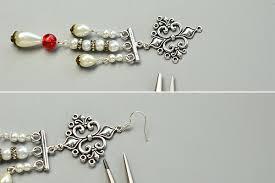 Chandelier Beaded Earrings White Bead Beaded Earrings Where To Buy Pretty Beads