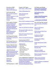 sap certification exam full material enterprise resource
