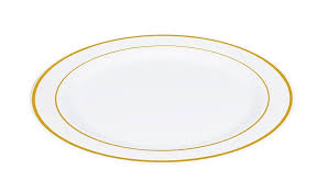 10 25 foil white and gold plastic plate 10 plates