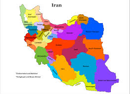 Isfahan On World Map by Iran Tourist Map Irantours