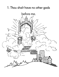 10 commandments coloring page glum me