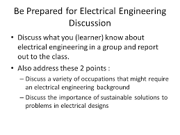 introduction to electrical engineering be prepared for electrical