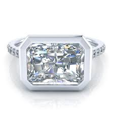 radiant cut engagement rings east west radiant cut engagement ring gtj3733 radiant w gerry