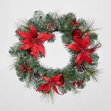 poinsettia wreath target australia