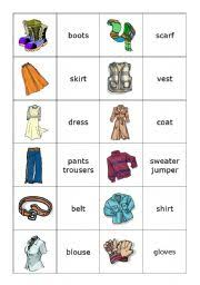 memory clothes worksheets memory card clothes