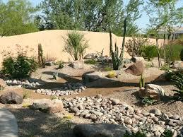 Desert Rock Garden Ideas Desert Rock Garden Ideas Backyard Of A House In A Desert