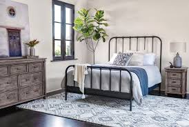 knox queen metal panel bed living spaces