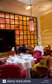 interior of sketch restaurant in london lecture room stock photo