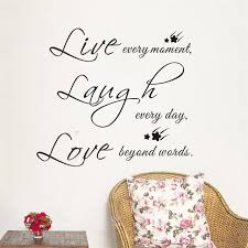 laughter quotes decorative wall stickers bedroom wall