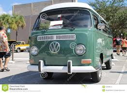 volkswagen minibus camper old volkswagen van at the car show editorial stock image image