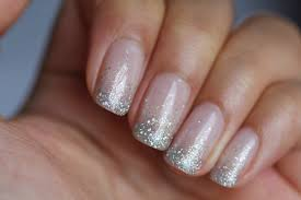 simple silver glitter nail art designs fashion fuz