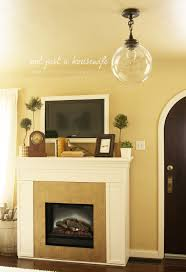 decoration contemporary mantel decorating ideas with glass front