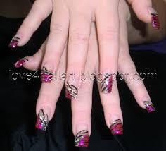 pink zebra nail designs nail designs hair styles tattoos and