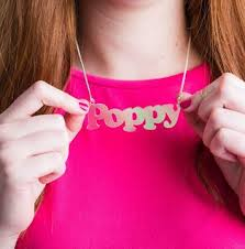 Acrylic Name Necklace Funkylaser Laser Cut Personalised Acrylic Name Necklace