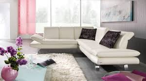 Purple Corner Sofas Corner Sofa Contemporary Leather 2 Seater Romero By Kurt