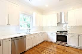 Backsplash With White Kitchen Cabinets - off white subway tile backsplash kitchen superb farmhouse kitchens