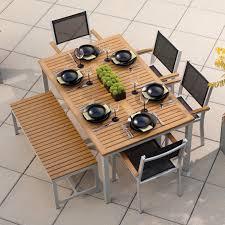 Overstock Patio Dining Sets by Oxford Garden Travira Teak Patio Dining Set Seats 6 Hayneedle