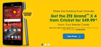 cell phone black friday deals cricket black friday deal offers zte grand x 4 for 49 99