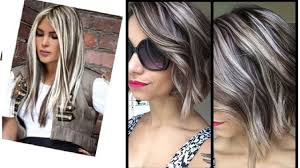 beautiful gray hair streaks gray hair highlight youtube