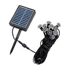 Solar Spot Lights Lowes by Shop Kenroy Home 10 Light Black 0 07 Watt Led Path Light Kit At