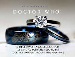 the marvels wedding band doctor who together forever wedding ring set